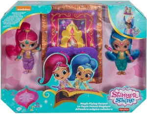 Fisher SHIMMER shine Magiczny Dywan 2 Lalki FHN24
