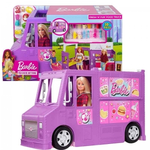 BARBIE FOODTRUCK Auto Furgonetka Do Zabawy GMW07